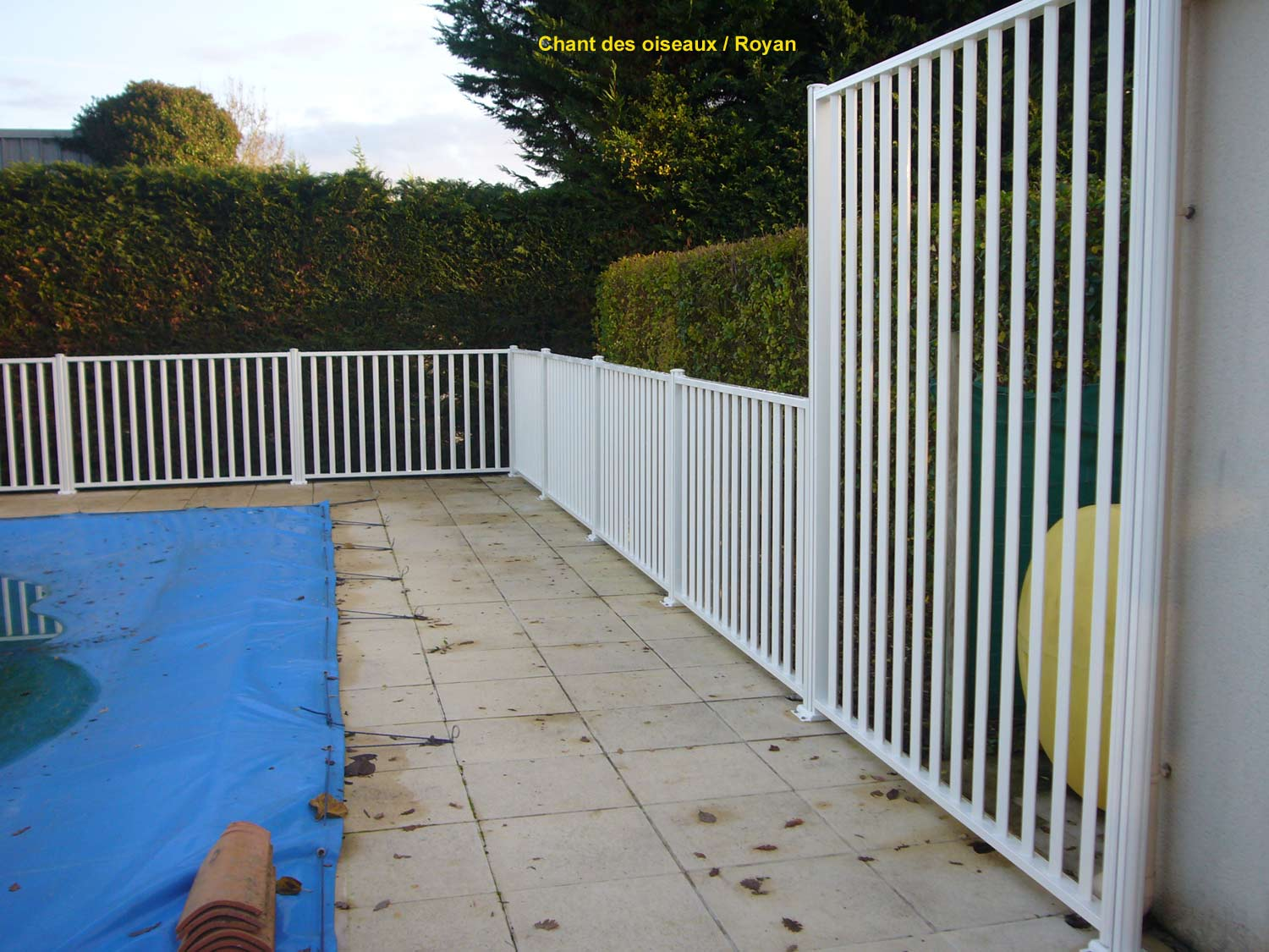 Page photo 162 r glages des l ments sur mesure de for Barriere de piscine en verre